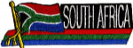 South Africa Embroidered Flag Patch, style 01.